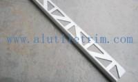 Bright chrome square edge aluminum tile trim