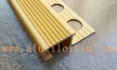 Matt Gold Aluminum Stair Nose For Tile